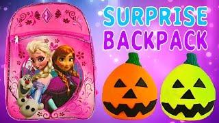 Download FROZEN SURPRISE BACKPACK - Barbie Monster High Lego Zelfs Princess Play Doh Egg MLP Video