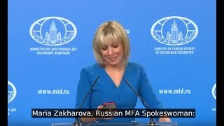 Download Zakharova Having A Laugh At UK Foreign Office For Deleting The Tweet Video
