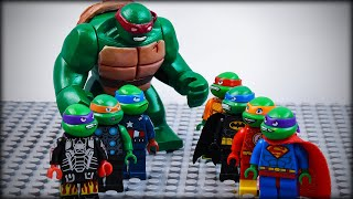 Download LEGO TMNT Avengers vs Justice League as Ninja Turtles Video