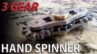 Download 3 GEAR Hand spinner fidget toy - fidgeting machine Video