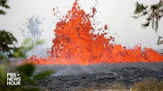 Download WATCH LIVE: Lava erupts from Kilauea volcano in Lower Puna Hawaii Video