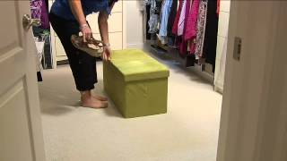 Download Microsuede 30″ Folding Storage Bench by FHE with Courtney Cason Video