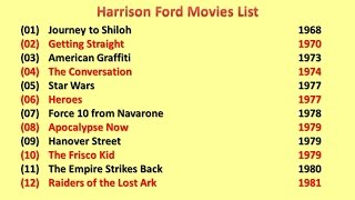 Download Harrison Ford Movies List Video