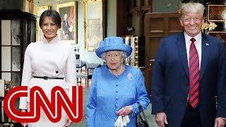 Download Queen Elizabeth II welcomes Trump to Windsor Castle Video
