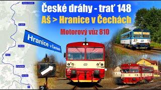 Download ČD 810 | AŠ - HRANICE V ČECHÁCH | trať 148 (2018) Video