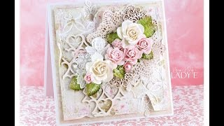 Download Romantic Shabby Chic Card Tutorial Wild Orchid Crafts * Emilia Sieradzan * Video