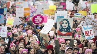 Download Women's March Floods Washington Video