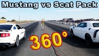 Download Scat Pack vs Mustang 360 Degree Video VR Video