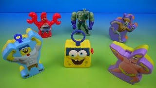 Download 2015 THE SPONGEBOB MOVIE SPONGE OUT OF WATER SET OF 6 McDONALD'S HAPPY MEAL KID'S TOY'S VIDEO REVIEW Video