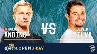 Download Kolohe Andino vs. Deivid Silva - Round of 16, Heat 3 - Corona Open J-Bay 2019 Video