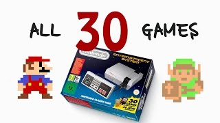 Download ALL 30 GAMES for Nintendo Classic Mini Video