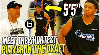 Download Lavar Ball WATCHES the SHORTEST PLAYER in the DRAFT! 5'5″ Junior Robinson PBC Highlights! Video