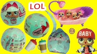 Download LOL Surprise Baby Dolls In Blind Bag Ball - Do They Pee, Cry, Spit or Color Change in Bath Water ? Video