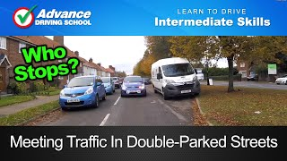 Download Meeting Traffic In Double Parked Streets | Learning to drive: Intermediate skills Video