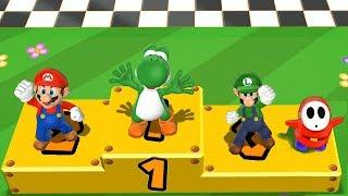 Download Mario Party 9 Step It Up - Yoshi vs Mario vs Luigi vs Shy Guy Master Difficulty  Cartoons Mee Video