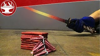 Download EXPERIMENT Glowing 1000 Degree SWORD VS FIRECRACKERS IN SLOW-MOTION! Video