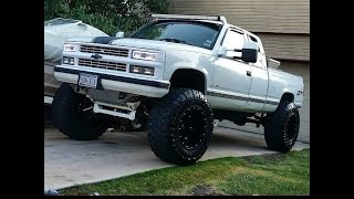 Download Evolution of my 1994 silverado. From factory to 11″ on 40's Video