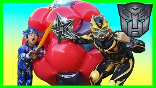 Download GIANT BALL SURPRISE OPENING Transformer Toys with Ryan Video