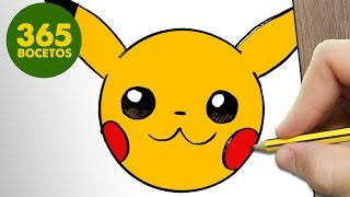 Download COMO DIBUJAR PIKACHU EMOTICONOS WHATSAPP KAWAII PASO A PASO - Dibujos kawaii fáciles Video