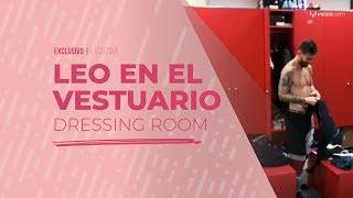 Download Así se prepara Messi en el vestuario para su rutina de entrenamiento Video