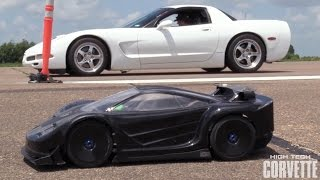 Download Twin Turbo Corvette vs RC Car Video