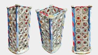 Download Newspaper Flower Vase   DIY newspaper crafts   Best out of Waste (Unique) Video