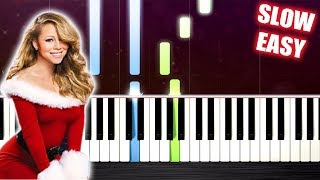Download Mariah Carey - All I Want For Christmas Is You - SLOW EASY Piano Tutorial by PlutaX Video