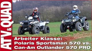 Download Arbeiter Klasse: Vergleichstest Polaris Sportsman 570 kontra Can-Am Outlander L 570 Video