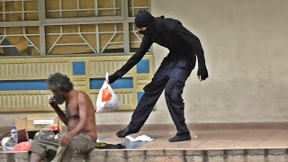 Download Ninja helping the homeless in Malaysia 2016 Video