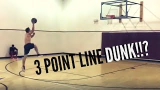 Download 3 POINT LINE DUNK?!?!?!?! Video