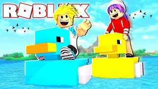 Download Rubber Duckie Race! Build A Boat to Treasure in Roblox Chad vs. Audrey Video