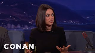 Download Mila Kunis' 3-Year-Old Daughter Is Too Logical To Believe In Santa Claus - CONAN on TBS Video