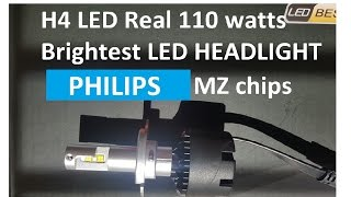 Download 110 watts H4 Philips MZ LED chip in Halogen bulb type design by SNGL Video