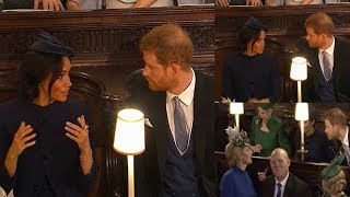 Download RARE MOMENT of conflict ! Meghan rolled her eyes seemed exasperated with Harry at Eugenie's wedding Video