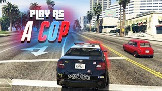 Download PLAY AS A COP IN GTA ONLINE! (NEW MODE) Video