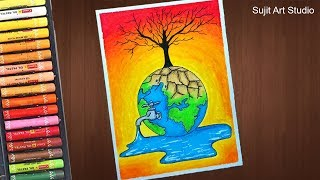 Download How to draw Save Water Save Life Poster - step by step Video