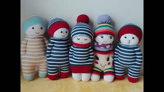 Download How to Make a Sock Doll, DIY dolls from socks (2 socks style) Video