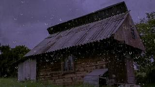 Download Relaxing Rain Sounds on a Tin Roof w/ Thunder for Sleep & Relaxation   10 Hours Natural White Noise Video