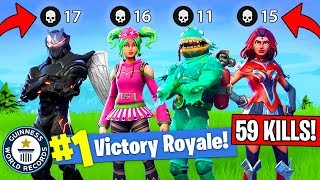 Download 59 KILLS BY 1 SQUAD!! *NEW WORLD RECORD! (Fortnite FAILS & WINS #9) Video