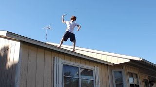 Download Knife Trick Shots Off Roof! Video