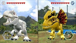 Download LEGO Jurassic World - Indominus Rex vs Custom Indominus Rex - CoOp Fight | Free Roam Gameplay [HD] Video