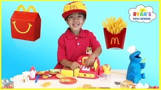 Download McDonald's Happy Meal Toy Pretend Play Food! Cash Register Hamburger Maker French Fries Shake Video