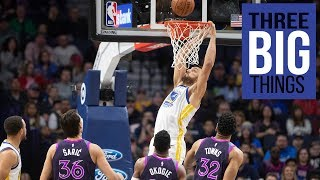 Download 3 Big Things: Warriors 117-107 win against Timberwolves Video