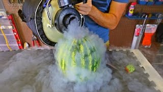 Download Pouring Liquid Nitrogen in Watermelon Video