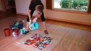 Download Cassandra Tondro, Abstract Painting Using Leftover House Paint, The Organic Series Video