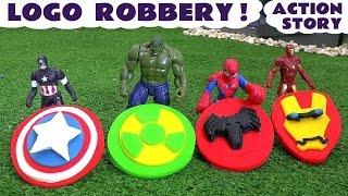 Download Spiderman and Avengers Logo Robbery Play Doh Thomas The Tank Story | Ultron Hulk & Iron Man TT4U Video