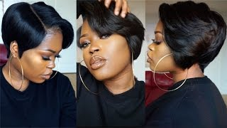Download DIY| 27 Piece & A Lace Frontal Tapered Bob Wig Video
