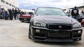 Download R34 GTR Shuts Down Car Meet! Video