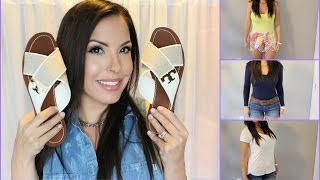 Download Fashion Haul TRY ON Sandals and Basics Video