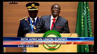 Download AU Chair Robert Mugabe address: 26th AU Summit Video